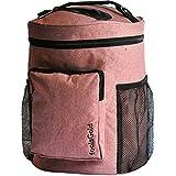 FoolsGold Pro transporter facilement emplacement double tricotage et de filés de laine Sac pour avec 2 rangements et poche à glissière - Rose