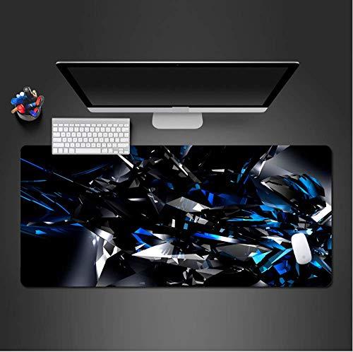 Mauspads Moderne Abstrakte Kunst 3D Blaue Und Schwarze Mausunterlage Mausunterlage Gewaschene Vorgerückte Heiße Große Matten-Spielunterlage 300X700X2Mm -