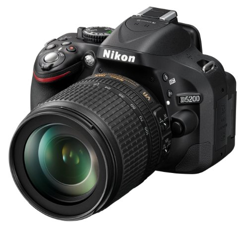 Nikon D5200 SLR-Digitalkamera (24,1 Megapixel, 7,6 cm (3 Zoll) TFT-Display, Full HD, HDMI) Kit inkl. AF-S DX 18-105 mm VR Objektiv schwarz (Digitale Nikon Slr-kamera D5200)