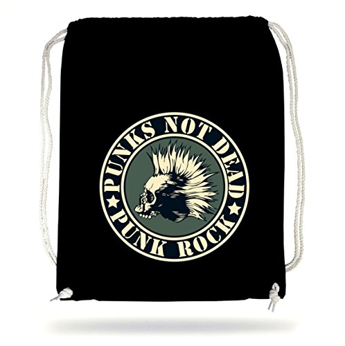 Punks Not Dead Gymsack Black Certified Freak (New-wave-tasche)