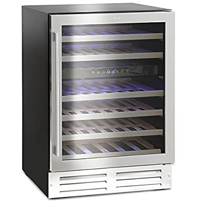Montpellier WS46SDX Dual Zone 46 bottle Wine Cooler in Stainless Steel by Montpellier