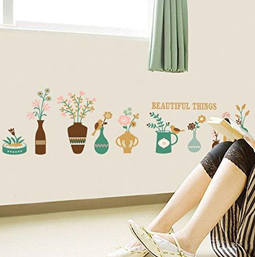 Wandaufkleber ZOZOSO Vase Baseboard Korea Wandaufkleber Kreative Diy Home Decoration Wandaufkleber
