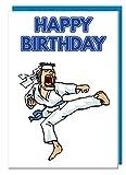 Geburtstagskarte–Karate Motto–Dad–Mann–Brother–Sohn–Grandad–Boyfriend