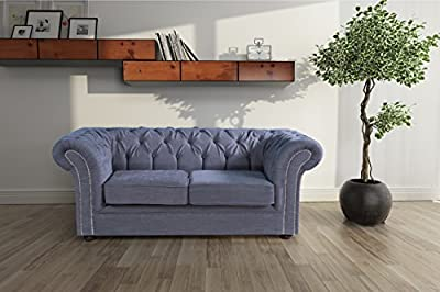 Lovesofas Jackson Chesterfield 2 Seater Sofa - Roxy Grey from Love Sofas