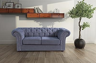 Lovesofas Jackson Chesterfield 2 Seater Sofa - Roxy Grey from Love Sofas