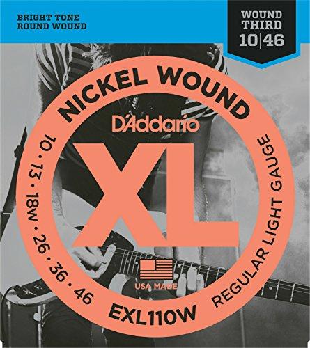 D'Addario EXL110W Juego de Cuerdas, Plateado