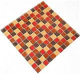 Fliesen Mosaik Mosaikfliesen Glas gefrostet bunt matt Küche Bad WC 8mm Neu #S49