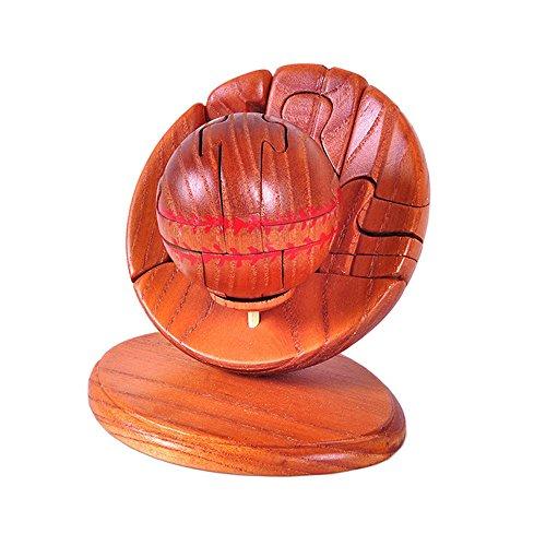 PhantomSky 3D Holz Gehirn Puzzle #36 - Fordern Sie Ihr Logische Denken und Töten Die Langweilige Zeit - Perfekte Geschenk für Kinder und Dekoration (Baseball-tote)
