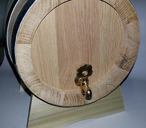 Messing Barrel Oak (Fass 2Liter Fässern Eiche LT Dicke Latten 2.3cm Wasserhahn Messing)