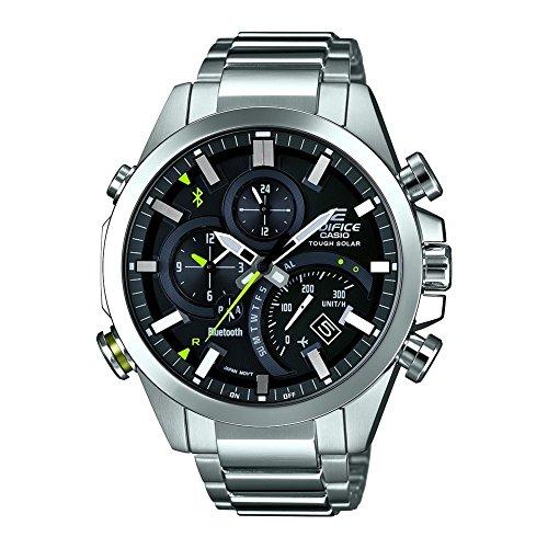 Casio Montre Homme Chronographe Quartz avec Bracelet en Acier Inoxydable – EQB-500D-1AER