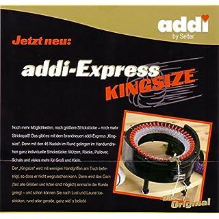 ADDI 890-2 Strickmaschine Express - Kingsize 46 Nadeln, Kunststoff, schwarz/rot / gold, 26 x 15.5 x 25.5 cm