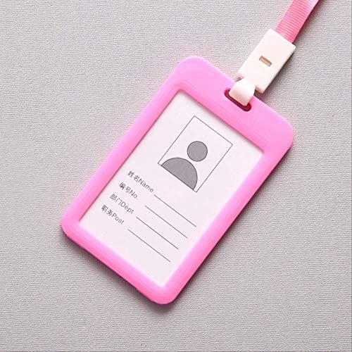 Kartenhüllen Ausweishülle Luxus-qualität Multicolor Name Kreditkarteninhaber Bank Card Bus Id Identität Seil Badge Holder Schüler Bürobedarf Rosa
