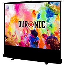 Duronic (Renewed) FPS80/43 - Floor Projector Screen - 80in (Screen: 163cm(w) X 122cm(h)) Portable Freestanding 4:3 Widescreen - with Carry case