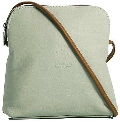 Big Handbag quaie, mini donna a portata di mano per cross-il corpo è realizzato in pelle italiana Beige - Tan Trim
