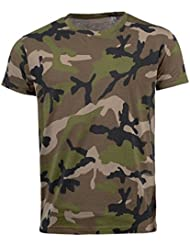 SOLS - Camiseta entallada/ajustada de manga corta para hombre - Modelo Camo