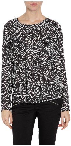 Morgan Damen Langarmshirt 141-omega.n Elfenbein - Écru (Écru/Noir)