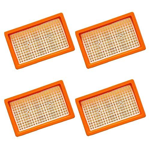 4x Flachfaltenfilter | für Kärcher Mehrzwecksauger + Nass-/ Trockensauger | MV4 + MV5 + MV6 + WD4 + WD5 + WD6 | wie 2.863-005.0 WD 4-6 und MV 4-6