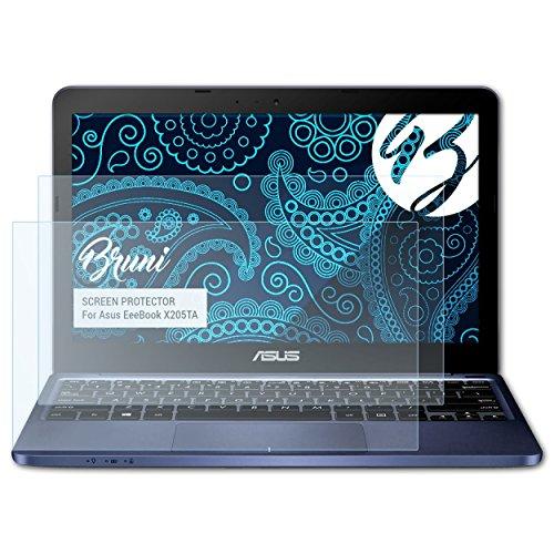 Notebook-pc Asus X205 (Bruni Schutzfolie für Asus EeeBook X205TA Folie - 2 x glasklare Displayschutzfolie)