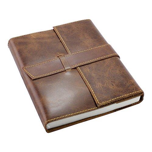 Creoly-Handgefertigtes, nachfüllbares Tagebuch aus braunem Leder (Terminkalender, Notizbuch)(16cm x 20cm) (Leder-rucksäcke Handgefertigtes)