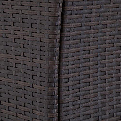 TecTake SET DI MOBILI DA GIARDINO POLI RATTAN ARREDAMENTO SET 8 SEDIE + TAVOLO - disponibile in diversi colori - (Mixed Marrone | no. 402040) - 7