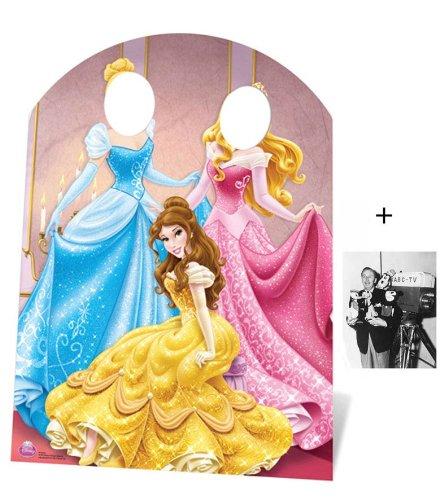 Fanbündel - Disney Princess Stand-in (Child Size) Belle, Aurora and Cinderella Lebensgrosse Pappfiguren / Stehplatzinhaber / Aufsteller - Enthält 8X10 (25X20Cm) starfoto (Cinderella Stand)