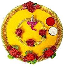 Idea Regalo - Set completo per la festa indiana del Rakhi, braccialetto per Bhaiya e Bhabhi, per il festival indiano del Raksha Bandhan, ottimo regalo per fratelli