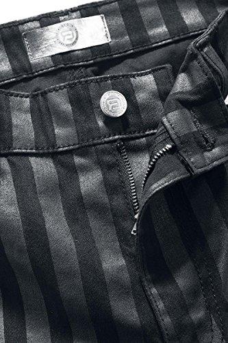 R.E.D. by EMP Striped Nick (Skinny Fit) Pantalon noir/gris noir/gris