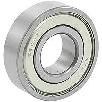 6204Z cojinete de bolas - SODIAL(R) 20 x 47 x 14mm 6204Z cojinete de bolas de eje de rueda de doble metal protegido