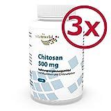 Pack de 3 Chitosan 500mg 3 x 120 Cápsulas Vita World Farmacia Alemania Control y Pérdida de Peso