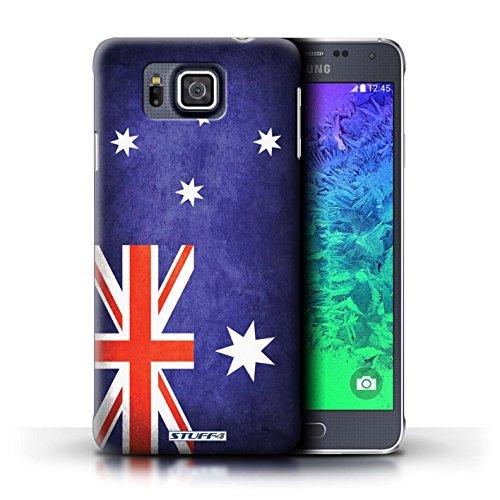 Kobalt® Imprimé Etui / Coque pour Samsung Galaxy Alpha / Algérie conception / Série Drapeau Australie/australien