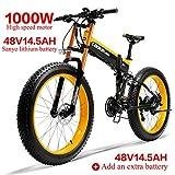 LANKELEISI 750PLUS 48V14.5AH 1000W Tout-Puissant Vélo Électrique Puissant 26 '' 4.0...