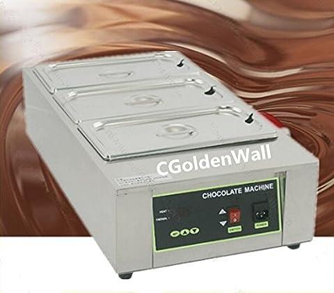 cgoldenwall 12kg Kapazität 3Tanks gewerblichen E-Kolben Schokolade schmelzen Schokolade Schokolade Schmelztiegel Schokolade Aushärtung Maschine Digital Schokolade Wärmer 110V/220V CE