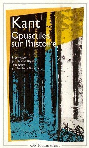 Opuscules sur l'histoire par Emmanuel Kant