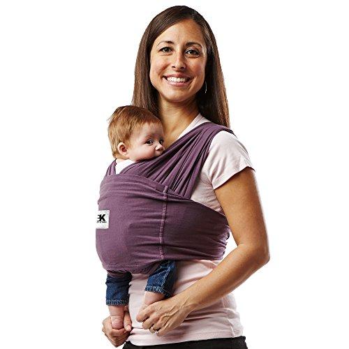 Baby K 'Tan - Fular Portabebés 100% Algodón (talla S, Color Morado)