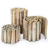 BooGardi Beeteinfassung Holz 30cmx250cm · 3 Größen · als Rasenkante/Beetzaun im Garten