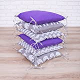 Amilian Baby Nestchen Bettumrandung 210 cm Design24 Bettnestchen Kantenschutz Kopfschutz für Babybett Bettausstattung