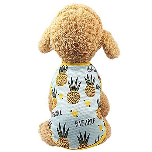 AUOKER Haustierkleidung für Paare, weich, atmungsaktiv, bequemes Hunde-Shirt, Kleid, Obst-Design, Haustier-Kostüm für Hunde, Welpen, Hunde und Katzen