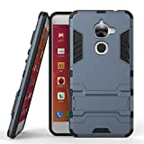 CASSIEY (TM) Tough Heavy Duty Shockproof Military Grade Armor Defender Series Dual Protection Layer Hybrid TPU + PC Kickstand Back Case Cover for Letv Le 2 / LeEco Le 2s 5.5 inches - Blue