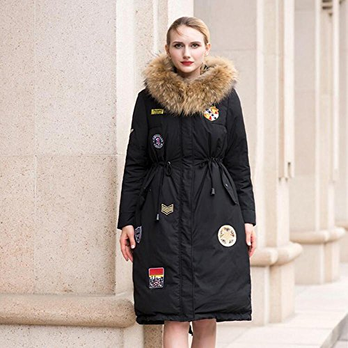 TT&FUSHI Langärmelige Kapuzenjacke mit Wollkragenmantel , black , l