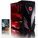 Vibox VBX-PC-AMZ-8421 Submission 29XLW Gaming Desktop-PC (AMD Phenom Quad Core FX-8350, 32GB RAM, 2TB HDD, NVIDIA Geforce GTX 960, kein Betriebssystem) rot