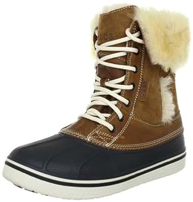 Crocs Allcast Luxe Duck Boot Women, Boots femme, Marron (Hazelnut/Stucco), EU 33-34 (W4)