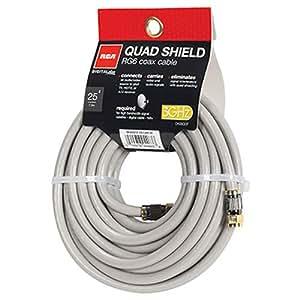 Audiovox 7.62m RG6 Coax 7.62m RG6 Noir câble coaxial - câbles coaxiaux (RG6, Or, 7,62 m, Mâle, Noir)