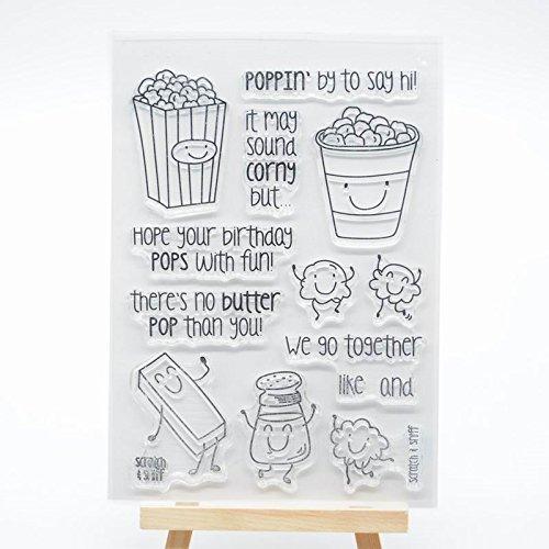 WooYangFun voller Freude HOME 1Popcorn Gummi CLEAR STAMP für Karte machen Dekoration und Scrapbooking