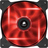 Corsair SP140 LED Ventilador de PC (140 mm, iluminación LED Rojo) Paquete Soltero