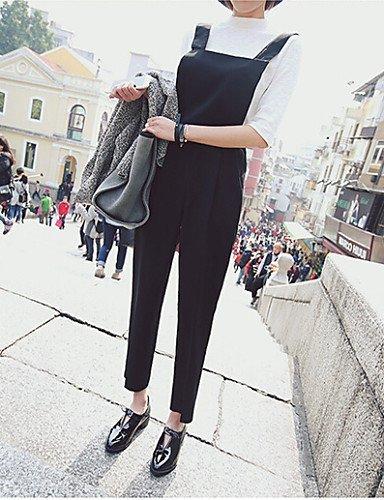 GSP-Combinaisons Aux femmes Sans Manches Décontracté Polyester Moyen Non Elastique black-l