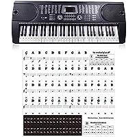 Transparente 54 61 88 Teclas Teclado electrónico Tecla clave Piano Estaca Nota Etiqueta para teclas blancas