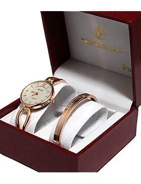 Ernest Damen Armbanduhr Kupfer Uhrband Reif rosévergoldet, mit Etui