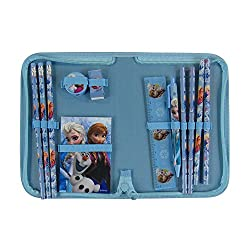 Officially Licensed 12 Piece Stationery Set in Zip Around Case - Elsa