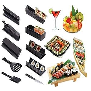 10 pcs kit de moule sushi maker outil moule pour sushi maki gunkan riz rouleau cuisine diy. Black Bedroom Furniture Sets. Home Design Ideas