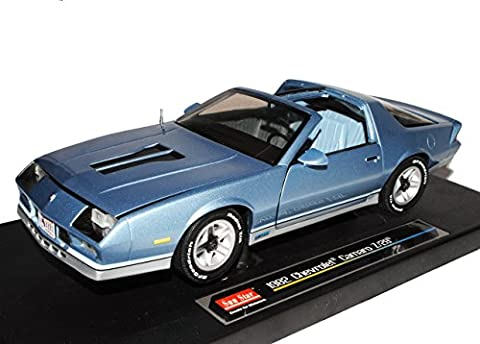 Chevrolet Chevy Chevy Camaro Z28 Coupe Blau Silber 3. Generation 1982-1993 1/18 Sun Star Modell